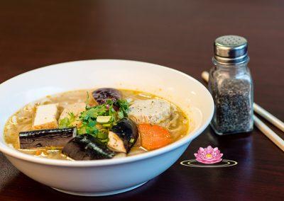 N12. Vegetarian mock fish vermicelli soup