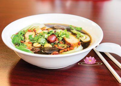 N07.  Vegetarian mock sausage vermicelli soup